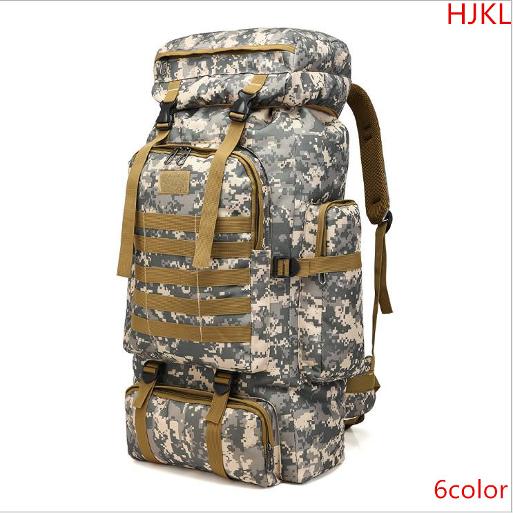 Backpack large capacity camouflage backpack shoulders 80 l new Oxford cloth male professional waterproof travel trade backpack shoulders male backpack bag camouflage large capacity 50 l computer military waterproof backpack travel free holograms