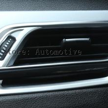 ABS Chrome центральной консоли боковой выход кондиционер Накладка для BMW X1 F48 компл. 4 шт. автомобиль Интимные аксессуары