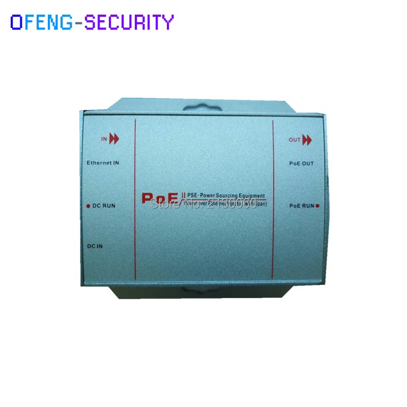 10pcs/lot POE Injector 10/100M Single Port With 2x 10/100M RJ45 Ports And 1x DC Input Port(DC 12~32V). Support IEEE802.3AF/AT