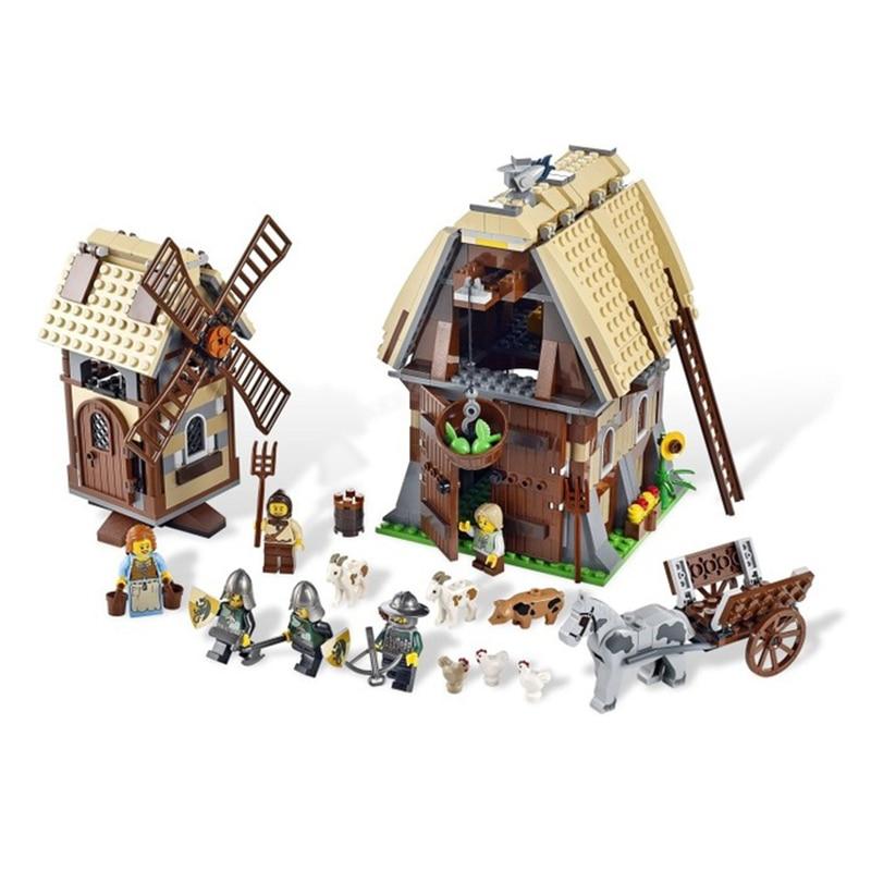 1010 pcs Royaumes Château Mill Village Raid Chevaliers 16049 Modèle Blocs De Construction Enfants Assembler des Jouets Briques Compatibles legoed