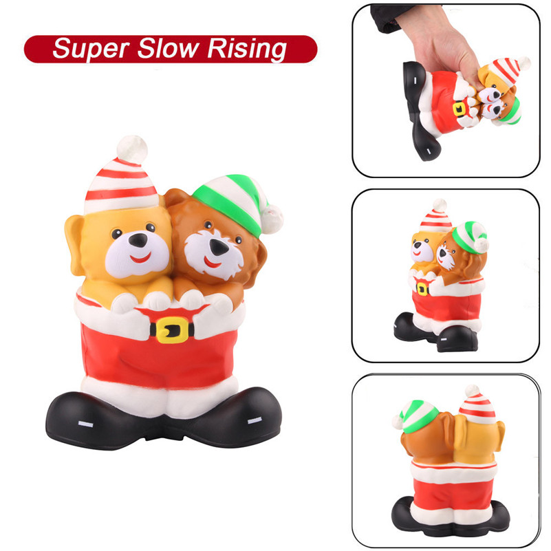 Squishies Christmas Boots Slow Rising Cream Squeeze Scented Stress Relief Toys Antistress Visqueux Squishi Toys For Children A1