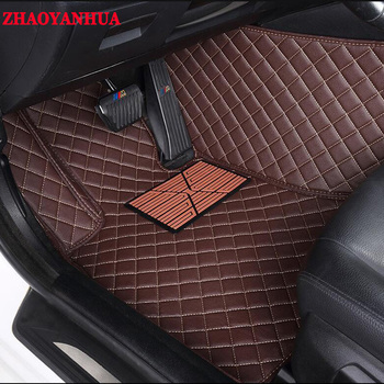 ZHAOYANHUACustom car floor mats made for Hyundai Azera Veloster Tucson ix35 Santa Fe Elantra ix25 Verna carpet liners
