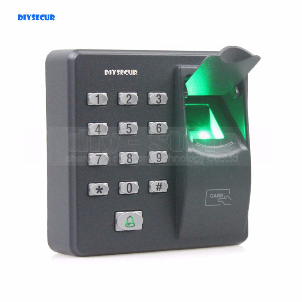 DIYSECUR Biometric Fingerprint Access Control Machine Digital Electric RFID Reader Code Password Keypad System for Door Lock brand new biometric fingerprint door access control system 125hz rfid keypad for entrance guard get 10 piece id keyfob free