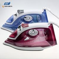 Electric Steam Iron for Clothes Handheld Steam Iron Thermostat Prevent Calcium Deposition Steamer Ceramic Base Plate