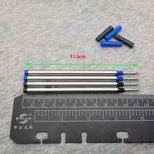 500PCS/LOT Metal pen refill More than gel pen refill writes smoother metal ball pen refill can be applied to most ballpoint pen