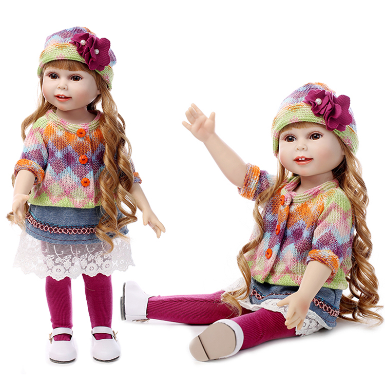 Free Shipping New Year Merry Christmas gift 18 American girl doll with clothes silicone lifelike baby doll baby toys girls gift free shipping 12cm new wooden cartoon candy people european and american wind puppet christmas nutcracker doll child gift