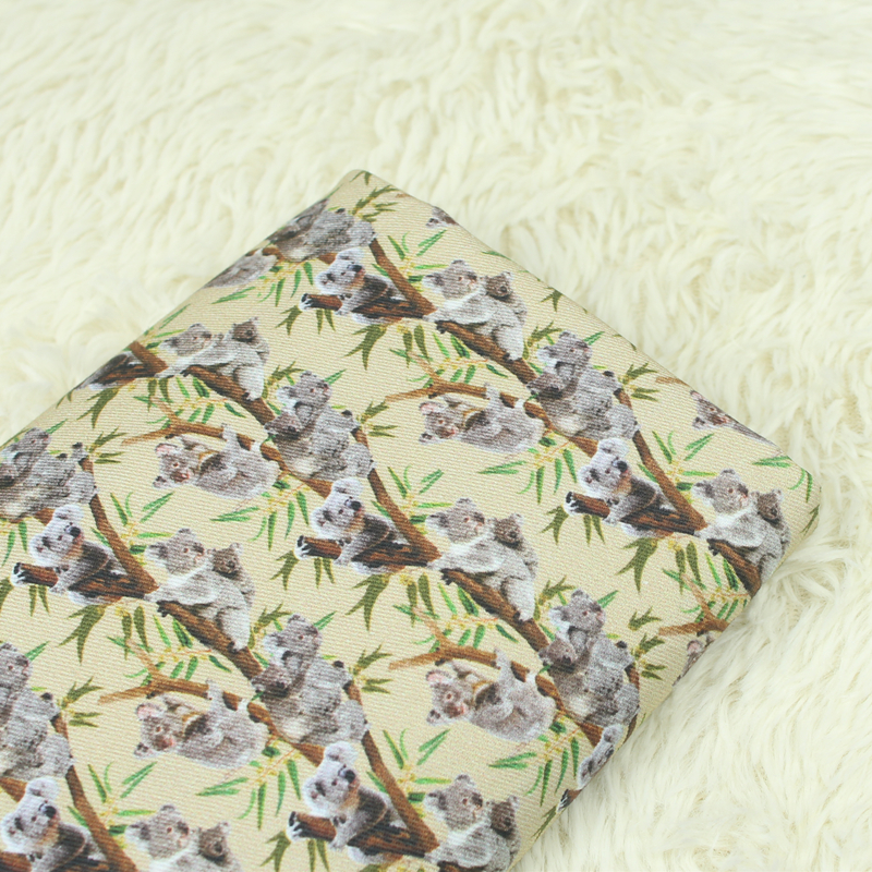 Body Friendly Cotton Twill Fabric Lovely Koala Printed Fabric Cotton Twill Patchwork Material For DIY Home Textile Baby Cloth in Fabric from Home Garden