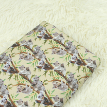 Body-Friendly Cotton Twill Fabric Lovely Koala Printed Patchwork Material For DIY Home Textile Baby Cloth