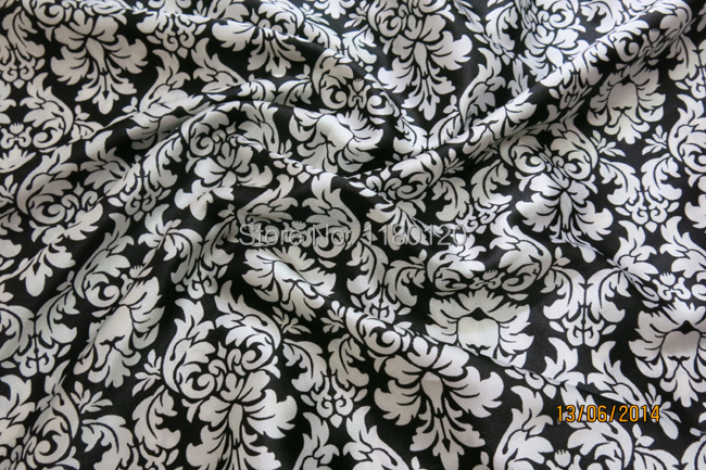 Popular Black White Print Fabric-Buy Cheap Black White Print ...