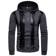 2019 Spring Autumn Men's Jackets Hooded Coats Casual Zipper Sweatshirts Male Tracksuit Fashion Jacket Mens Clothing Outerwear(China)