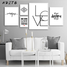 Modern Abstract Canvas Poster Geometric Wall Art Print Black White Minimalist Painting Nordic Decorative Picture Home Decor