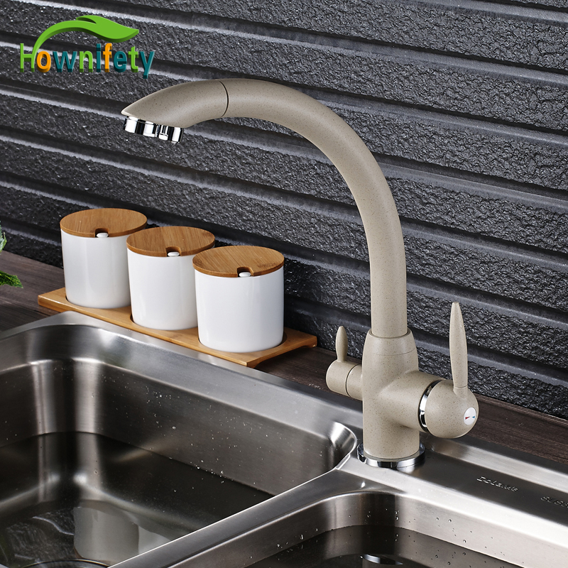 Beige With White Point Kitchen Faucet Pure Water Faucet
