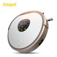 Fmart робот пылесос мини пылесос автомобильный пылесос сухая и влажная уборка мягкий бампер LED сенсорный экран 1000 Па бесплатная доставка со ск