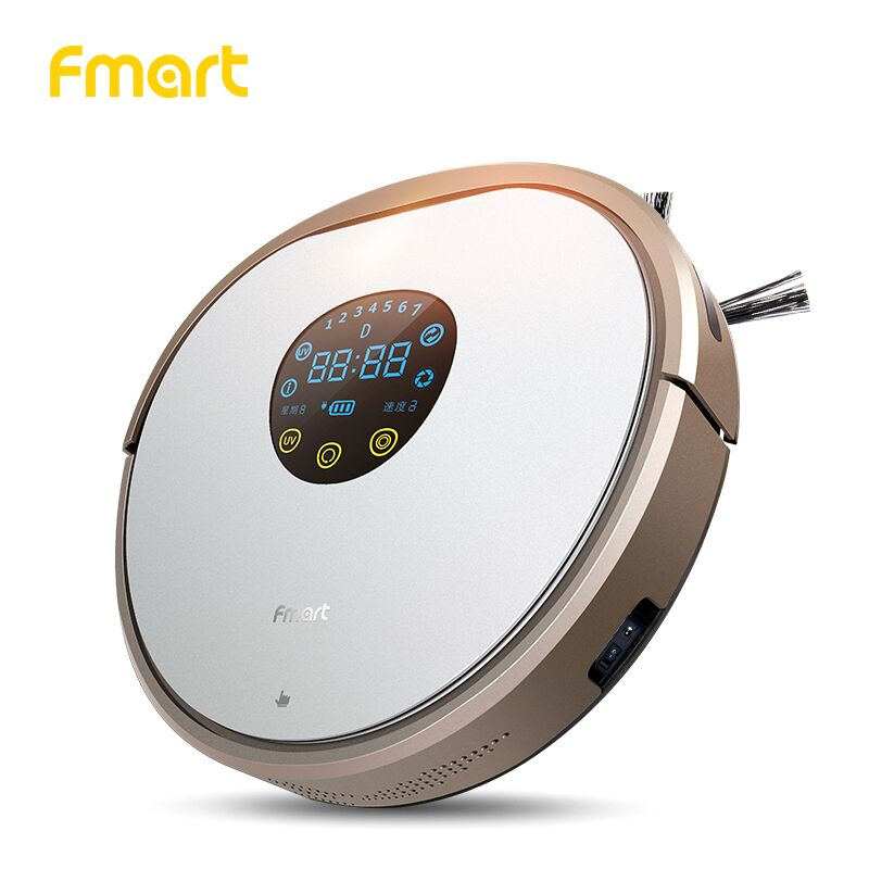 Fmart Robot Vacuum Cleaner UV Dust Sterilize 1000PA For Home Cleaning Appliance With Self-Charge For Wood Floor Aspirator YZ-V2 все цены