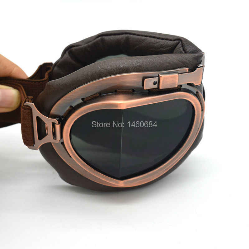 Evomosa Vintage Perang Dunia II Pilot Terbang Kacamata Olahraga Luar Ruangan Kacamata Goggle untuk Motocross Sepeda Motor Dirt Bike ATV KTM