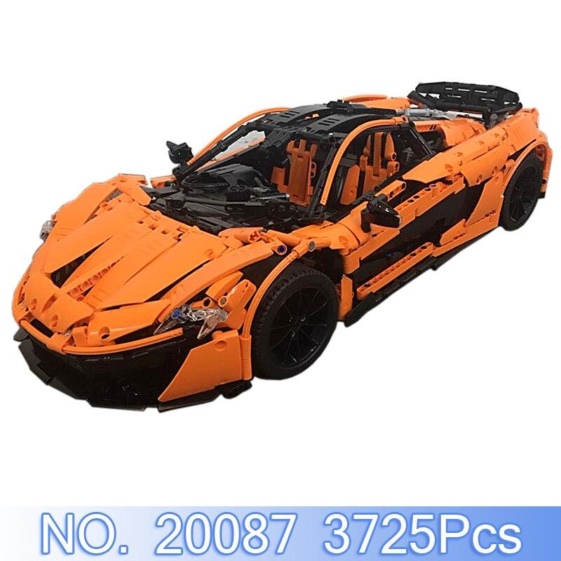 Lepin 20087 Technique MOC-10915 McLaren P1 Hypercar 1:8 voiture de course Ensemble Compatible Legoing Modèle Kit de Construction Blocs Briques jouet garçons