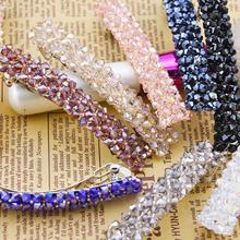 Four row crystal clip hair, free home delivery