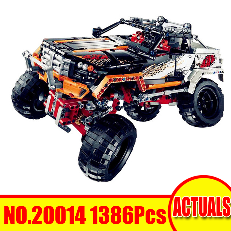 1386Pcs 20014 Lepin Technic Figures 4X4 Crawler Model Kits Building Blocks Bricks Set Toy For Children Gift Compatible With 9398 a toy a dream lepin 15008 2462pcs city street creator green grocer model building kits blocks bricks compatible 10185