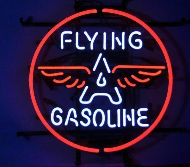 Custom RED INDIAN MOTOR OILS Flying A Gasoline Car Auto Store Glass Neon Light Sign Beer Bar 2