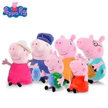 Original 6Pcs/set Peppa Pig 19/30CM Family Set Plush Toys Cute Cartoon Animal Stuffed Dolls Pink Friend Children Party