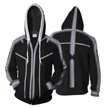 Sword Art Online Kirito Black Cosplay Hoodies Costumes Men Women Spring Jacket Zipper hoodie coat S-5XL 2019 Japan Anime