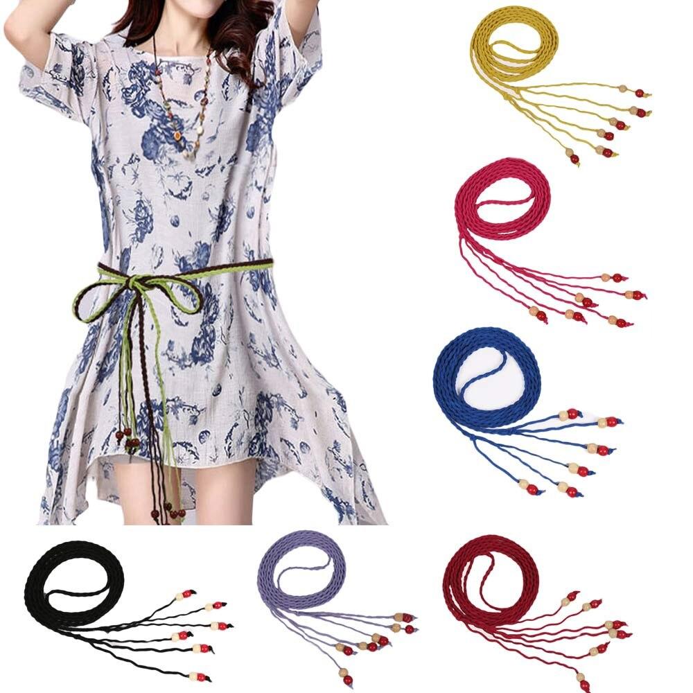 2018 fashion lady weave stretch elastic wide belt bohemia waist belt high quality girls belts for gift #0212