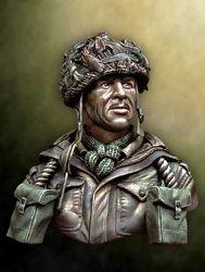 1/10 escala de resina busto segunda guerra paraquedista britânico