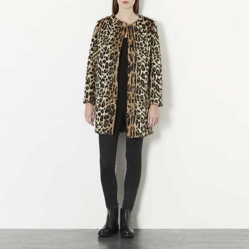 Finta pelliccia leopardo
