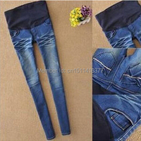 Jeans de maternidad más tamaño elástico de cintura alta pantalones de las polainas Jeggings para mujeres embarazadas ropa barata de moda sml XL XXL