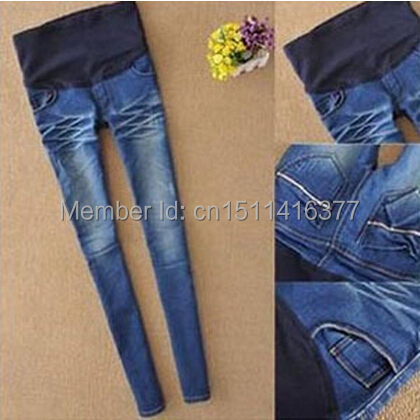 цена на Maternity Jeans Plus Size Elastic High waist Pants Leggings Jeggings for Pregnant Women Fashion Cheap Clothing S M L XL XXL