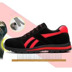 Scarpe di sicurezza Scarpe di Protezione di Sicurezza In Acciaio Toe Scarpe scarpe Per Uomo Scarpe Da Lavoro Da Uomo in Mesh Traspirante Formato 12 Calzature Usura- resistente GXZ015