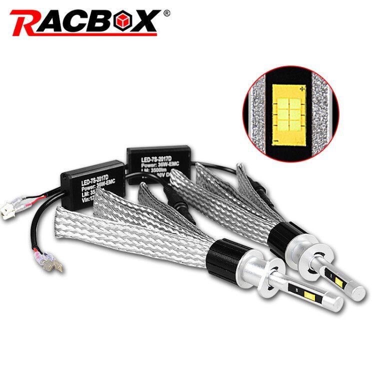 H1 LED Headlight Bulb Light font b Lamp b font Kit 72W 36W 7000LM H7 H8