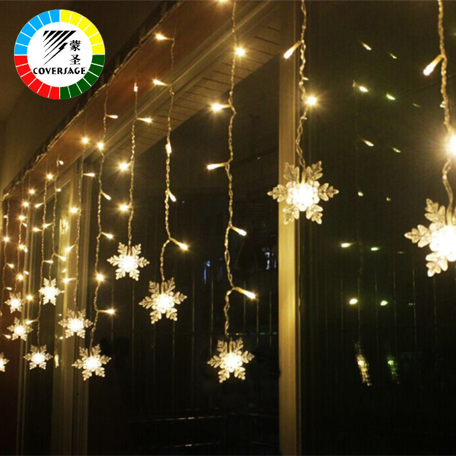 Coversage Christmas Fairy String Lights Xmas Wedding Garden Party Christmas Decoration Outdoor Light Curtain Led String Lights