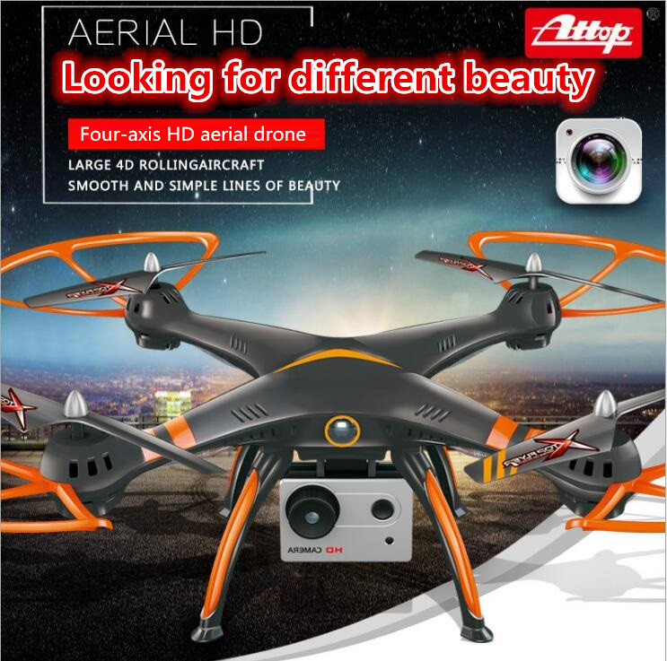 Professional aerial RC quadcopter A18 2.4G 4CH 54CM one key take off headless mode 720P camera Selfie WIFI FPV RC Drone vs U818S original jjrc h28 4ch 6 axis gyro removable arms rtf rc quadcopter with one key return headless mode drone