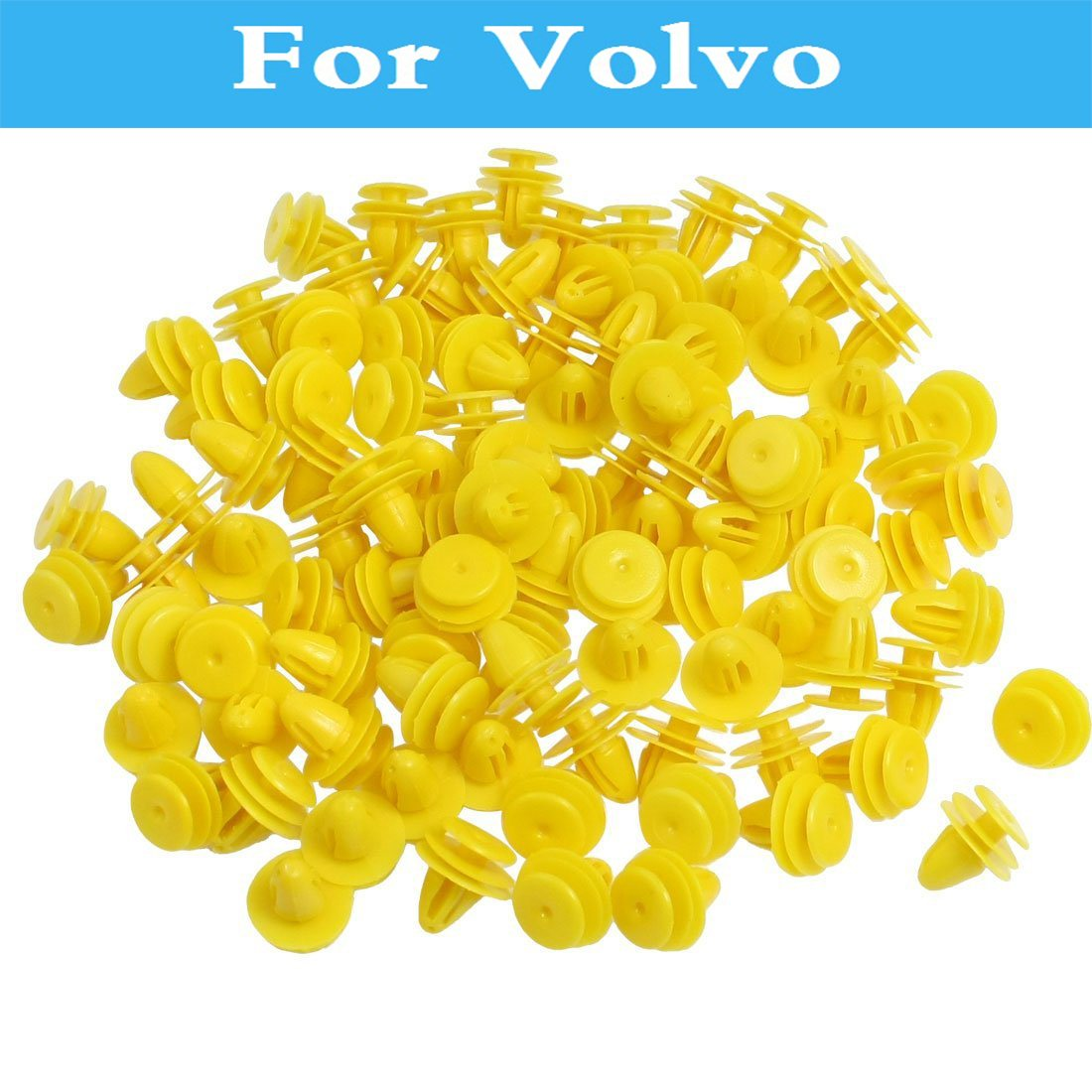 50pcs Yellow Plastic Rivet Car Door Trim Panel Clips For Volvo S40 S60 S80 Xc90 C30 C70 V40 V50 V60 Cross Country V70 Xc60 Xc70 whatskey uncut blade transponder ignition car key shell case for volvo s40 s60 s70 s80 v40 v70 xc60 xc70 xc90 850 960 c70 v7 d30