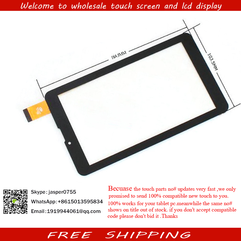 New Touch Screen Touch Panel glass Digitizer Replacement for 7 teXet X-pad Navi 7 3G TM-7059 Tablet Free Shipping free film new touch screen digitizer for 7 texet tm 7096 x pad navi 7 3 3g tm 7849 tablet panel glass sensor replacement