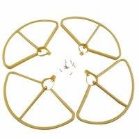 4 pcs Lâminas de Anel de Proteção para Hubsan H501S H501A/H501C/H501M/H501S W/H501S pro RC Quadcopter acessórios-Ouro