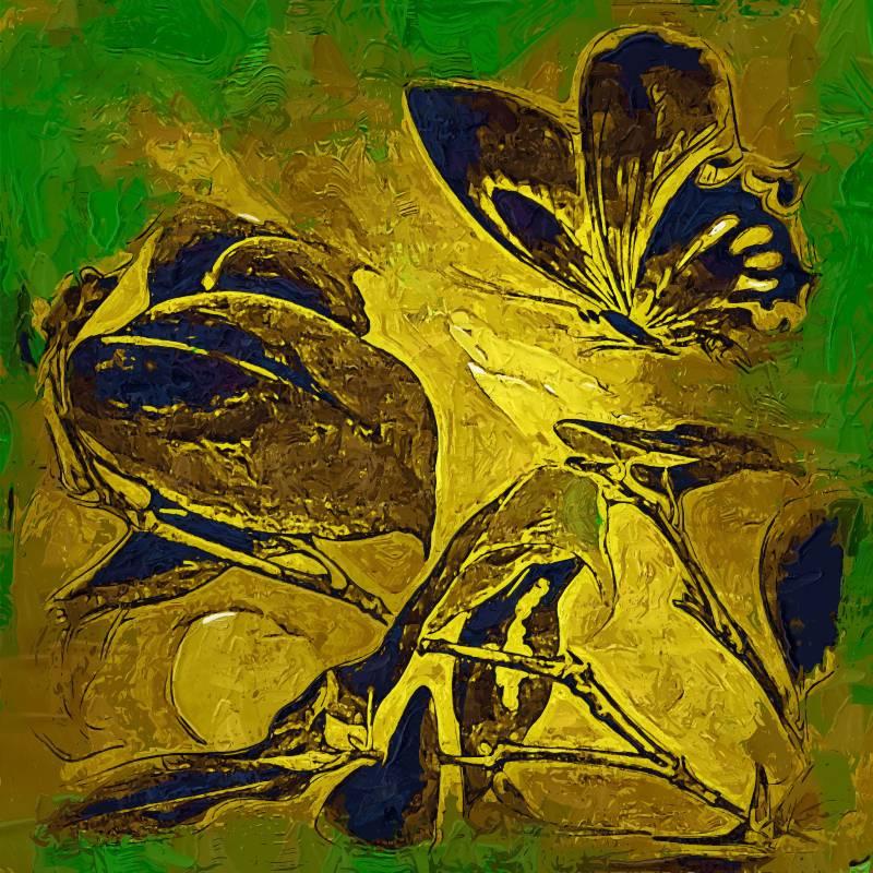 Mariposa abstracta pinturas compra lotes baratos de mariposa abstracta pinturas de china - Enmarcar lienzo ...