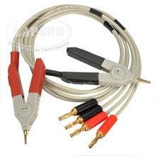 Проверка счетчика LCR Тестовые провода свинца/Клип кабель/зажимной терминал Кельвин зонд провода с 4 разъемом банана
