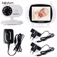 babykam baby phone camera economiseur electricite 3.5 inch LCD IR Night Vision Intercom Lullaby Temperature Monitor camera baby