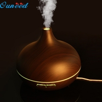 Happy Home Coffee Color LED Essential Oil Aroma Diffuser Ultrasonic Wooden Humidifier Air Aromatherapy Atomizer 1