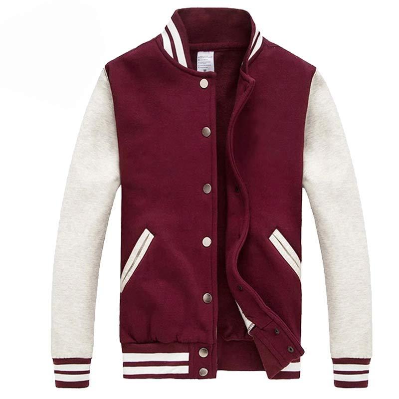 Men/Women Bomber Jacket 2016 Autumn Fashion Wine Red Baseball Jacket Casual Brand Cotton Varsity Jacket Bombers Blouson Homme