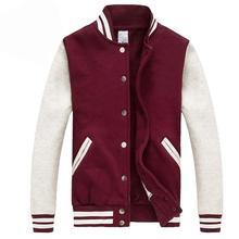 Classic Men/Women Varsity Jacket 2016 Spring Fashion Solid Color Baseball Jacket Casual Brand Cotton Bomber Jacket Blouson Homme цена 2017