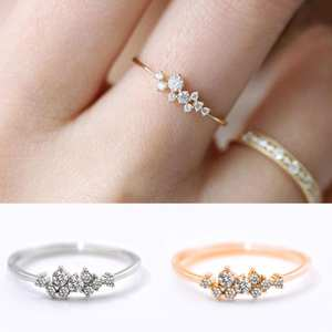 Women Ring Finger-Jewelry Rhinestone Crystal High-Quality 9/10-Size GIFT Fashion Hot