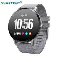 V11 montre bande intelligente IP67 étanche verre trempé activité Fitness tracker moniteur de fréquence cardiaque bord hommes femmes smartwatch