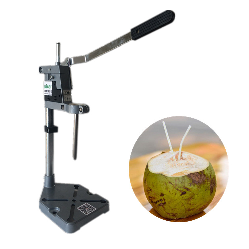 Manual green coconut opener, hand press coconut opening machine coconut cowboy