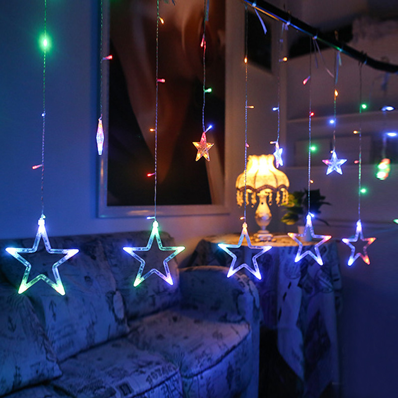 Image 4 - Holiday Lighting 4M 138LED Christmas Lights Outdoor Snowflake Fairy Curtain LED String Light For Home Party New Year Decoration-in LED String from Lights & Lighting