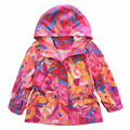 2016 autumn new brand fashion girls jacket hooded kids trench coats camouflage print waterproof girls outerwear  3-10Y