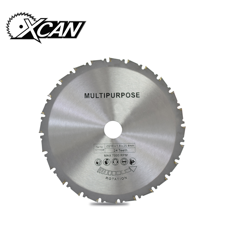 цена на XCAN 1pc 210*1.8*25.4mm 24T TCT wood circular saw blade Muiltpurpose wood cutting blade for cutting wood/plastic/acrylic