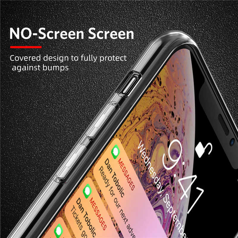 Capa de silicone para iphone x xr xs max tpu caso de telefone macio para iphone 11 pro max 6 s 7 8 mais transparente